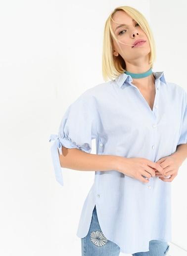 Kolu Bağcıklı Gömlek-Agenda